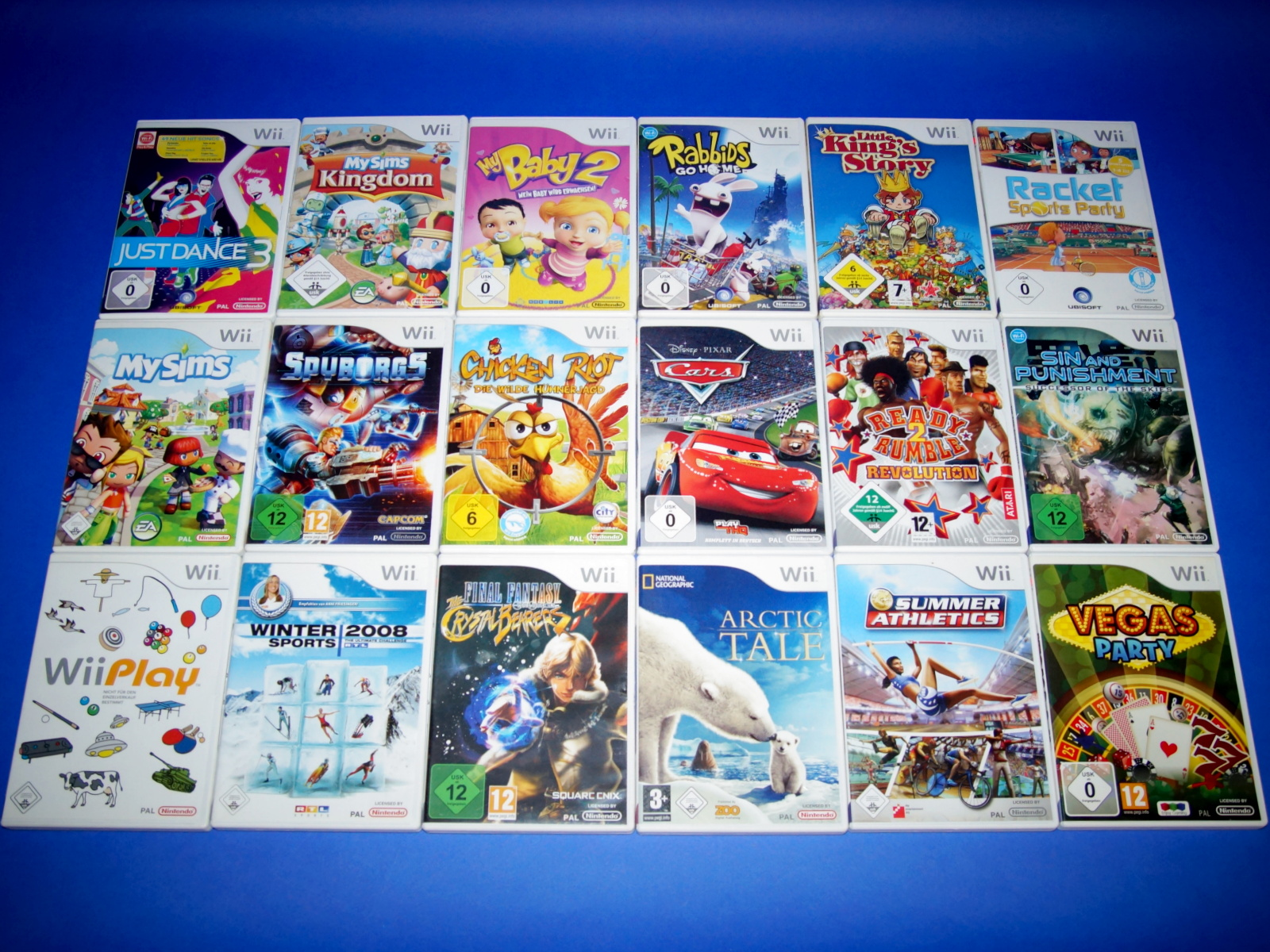 18 original nintendo wii spiele sammlung 139645 ebay. Black Bedroom Furniture Sets. Home Design Ideas